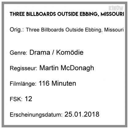 Three Billboards Outside Ebbing, Missouri Verkaufsstart