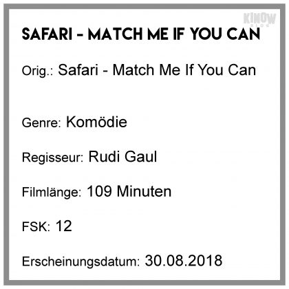 Safari Match Me If You Can Kritik Info