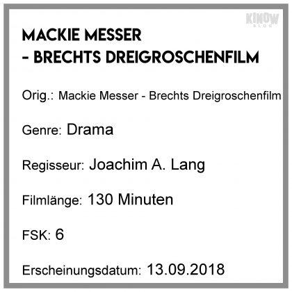 Mackie Messer - Brechts Dreigroschenfilm Kritik Info