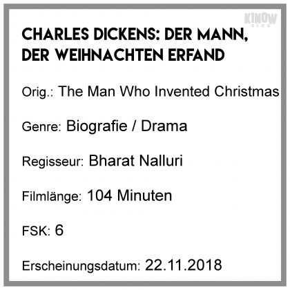 Charles Dickens: Der Mann, der Weihnachten erfand Kritik Info