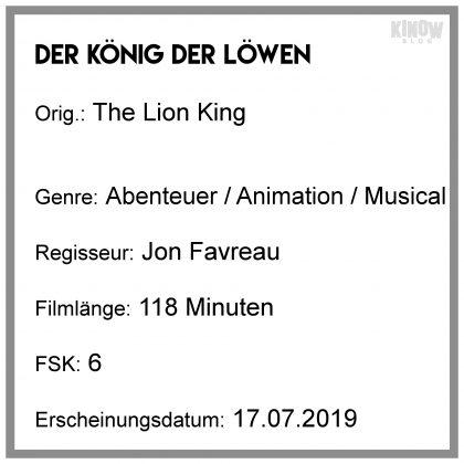 Der König der Löwen Kritik Info